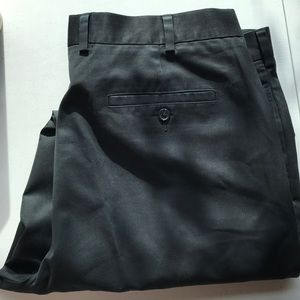 John W. Nordstrom black smooth twill pants